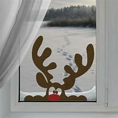fensterbilder weihnachten vorlagen fensterbilder zu weihnachten rentier aus papier lustig