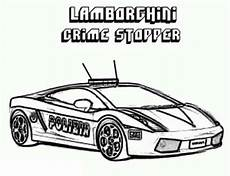 car lamborghini crime stopper coloring page color