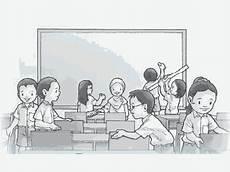Gambar Kartun Lingkungan Sekolah Yang Simple Dan Mudah