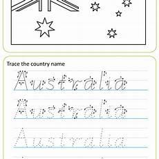 australian handwriting worksheets victorian modern cursive country names free sle