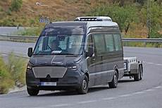 2018 Mercedes Sprinter Prototype Spotted With Thin