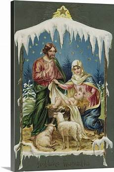 merry christmas postcard with nativity wall art canvas prints framed prints wall peels