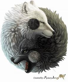 Wolf Wallpaper Wolf Yin Yang yin yang wolves by sunima on deviantart