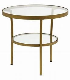 table en verre ronde table basse ronde verre et laiton nordal