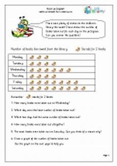 book pictograms statistics handling data maths worksheets for year 2 age 6 7