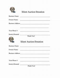 form for 2009 silent auction donation