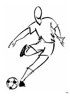 fussballspieler skizziert ausmalbild malvorlage comics