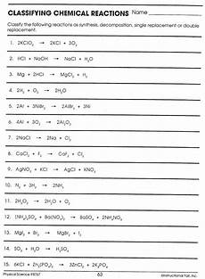 physical science balancing equations worksheet 13078 balancing chemical equations worksheet science spot answers worksheet resume exles