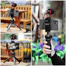 phone interview shopee oy ulanzi smartphone video kit 3 including mini desktop tripod metal phone holder with cold