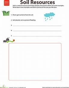 natural resources soil worksheet education com