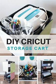 diy cricut cart for your favorite cricut supplies with