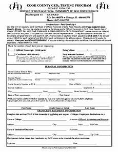 cook county ged transcript request form fill online printable fillable blank pdffiller