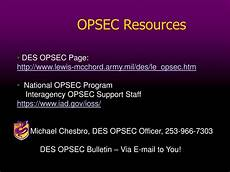 opsec level 1 the question word that describes a time ppt opsec countermeasures michael chesbro des opsec officer powerpoint presentation id 2946561