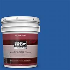behr premium plus ultra 5 gal p510 7 beacon blue matte interior paint and primer in one 175305