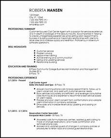 free entry level call center resume templates resume now