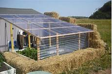 Treibhaus Selber Bauen - build your own greenhouse out of straw bale your