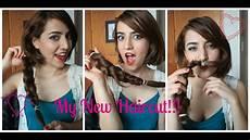 my new haircut big chop donating hair youtube