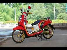 Modifikasi Scoopy by Modifikasi Honda Scoopy Thailook Style Mothai Thailand