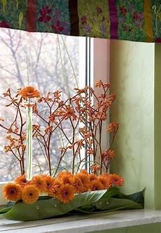 herbst dekoration fenster besonders reizvolle fensterbank deko