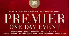 pottery barn premier event free shipping