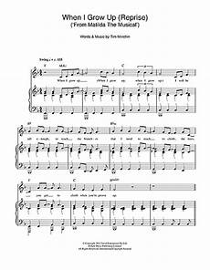 when i grow up reprise from matilda the musical sheet music by tim minchin piano vocal