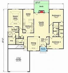 country style ranch house plans plan 75605gb charming ranch style home with split beds