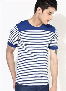upcycle t shirt blue stripes sustainable t shirt
