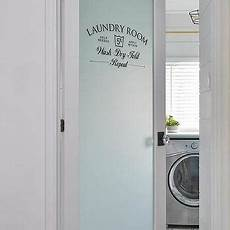 Laundry Room Doors Frosted Glass
