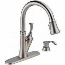 delta faucets kitchen delta 19949 sssd dst savile 1 handle pull kitchen faucet quot nib quot ebay