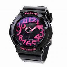 Casio Baby G Bga 130 Black genuine casio baby g neon illuminator 100 meter water