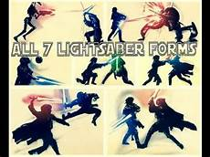 all 7 lightsaber forms star wars explained youtube