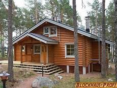 Kleines Rundbohlenhaus Als Wohnhaus Blockhaus Profi