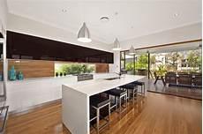 kitchen furniture brisbane black and white kitchen with timber splashback pvb