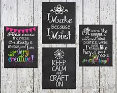 craft room chalkboard wall art craft room typography