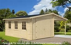 Holzgarage Mit Carport 44 Iso A Z Gartenhaus Gmbh