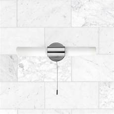 polished chrome 2 20w g9 bathroom wall light with pull cord switch