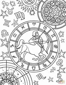 constellation of pisces worksheet sagittarius zodiac sign coloring page free printable