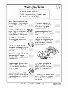 math word problem worksheets 3rd grade 11095 3rd grade 4th grade math worksheets word problems greatschools