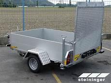 pkw transport anhänger anh 196 nger steigtechnik steininger spezialanh 228 nger zum