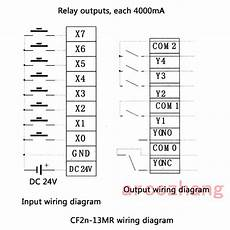 13mr 8 Input 5 Relay Output Plc With Rs232 Cable By