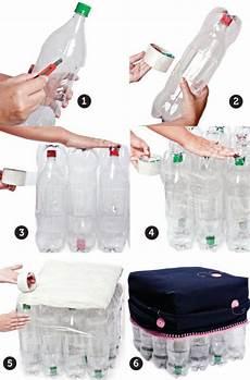 c 243 mo hacer un puff con botellas de pl 225 stico envases de plastico lata y papel pinterest