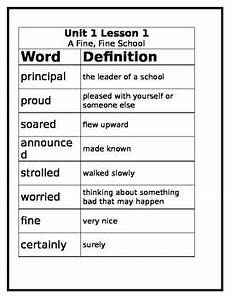 3rd grade journey s vocabulary worksheet lesson 1 by