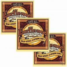 soft acoustic guitar strings 3 sets ernie 2051 earthwood silk steel soft acoustic guitar strings ebay