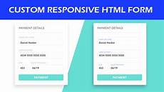 create html form web form responsive design by williamturner24