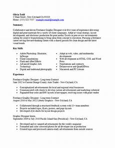 freelance graphic design resume template resume templates