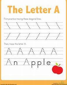 practice tracing the letter a preschool writing preschool worksheets lettering