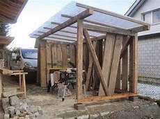 Holzhaus Wir Bauen Ein Haus Aus Holz Unterstand Fertig