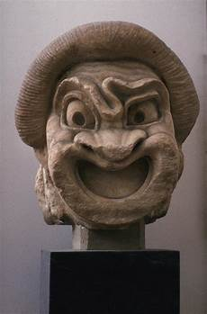 greek masks greek comic mask of a slave athens 2nd c b c the core curriculum
