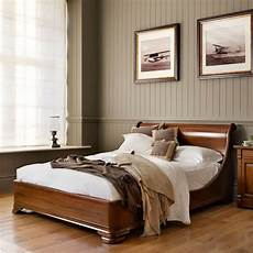 Wooden Sleigh Bed Bedroom Ideas by Manoir Socle Carved Luxury Wooden Sleigh Bed