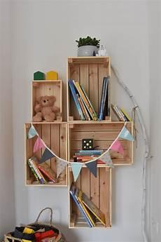 Bücherregal Kinderzimmer Selber Bauen - diy regal aus holz kinderzimmer b 252 cherregal